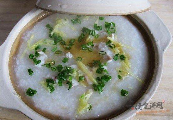 黑鱼粳米粥的做法