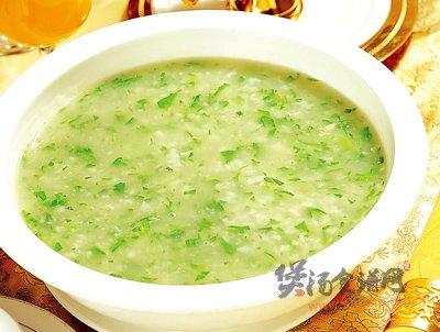青菜米汤的做法