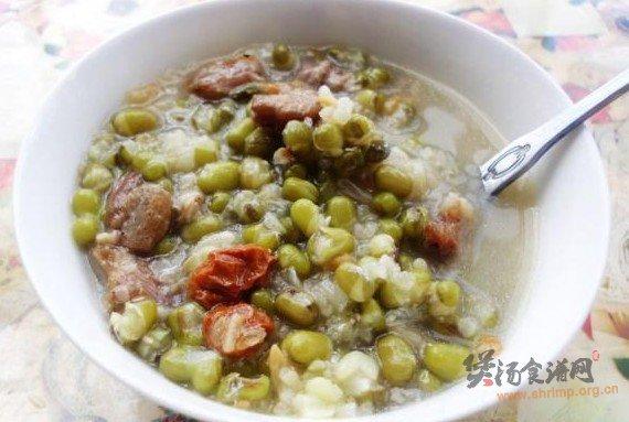 绿豆粽子粥的做法