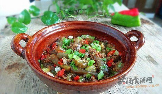肉末茄子砂锅煲的做法