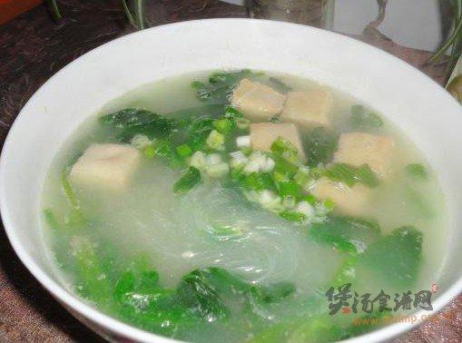鱼豆腐粉丝菠菜汤的做法