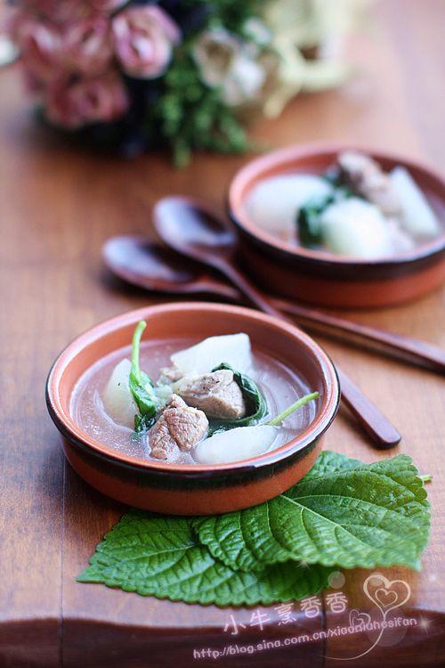 芝麻叶羊肉汤的做法
