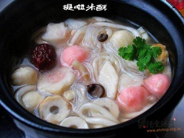 菌汤双粉鱼丸的做法