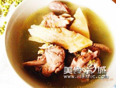 茯苓绿豆鸭汤的做法