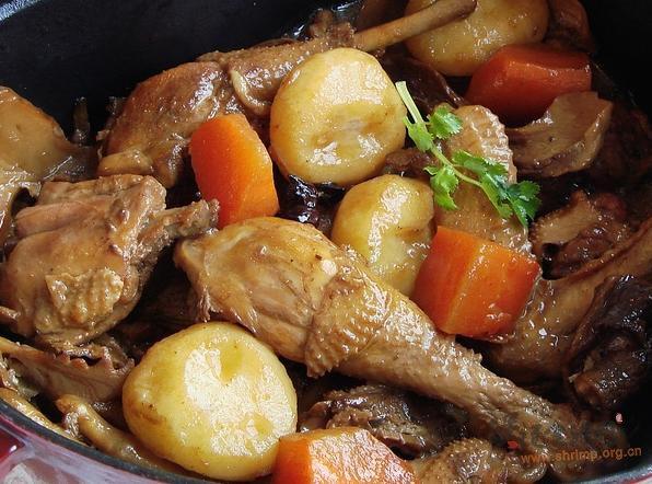 松茸马蹄炖鸡的做法