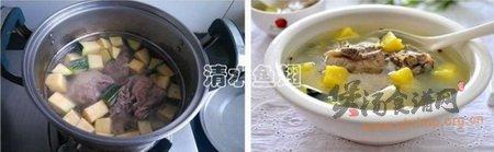 鲜滑倭瓜尾骨汤的做法