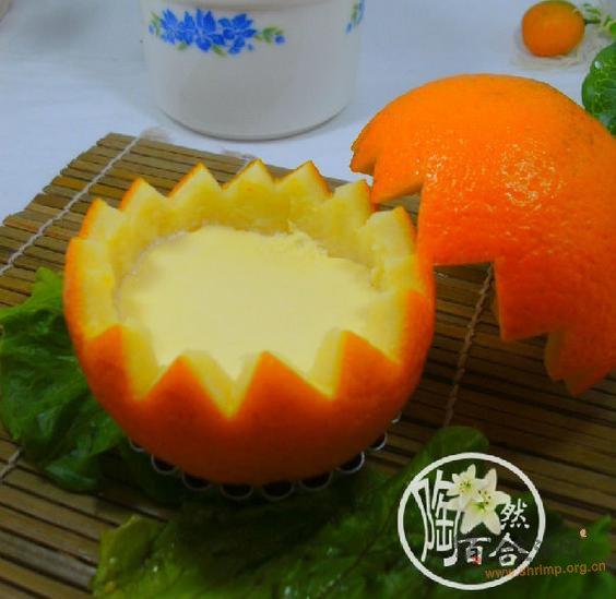 鲜橙炖蛋的做法