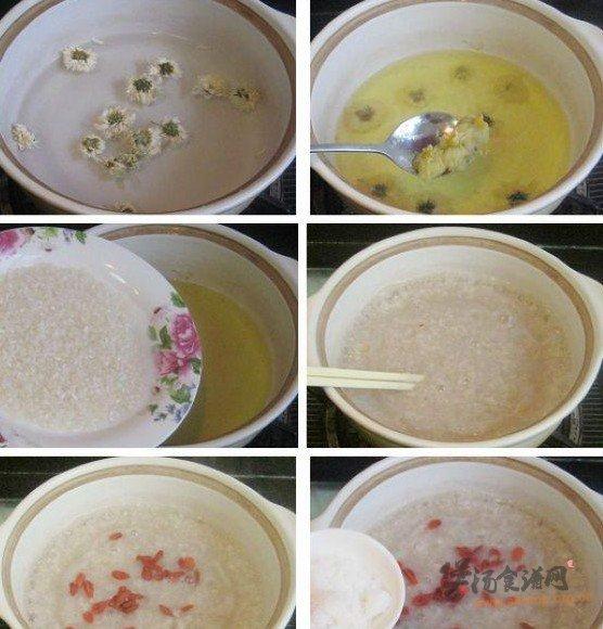 菊花枸杞糯米粥的做法