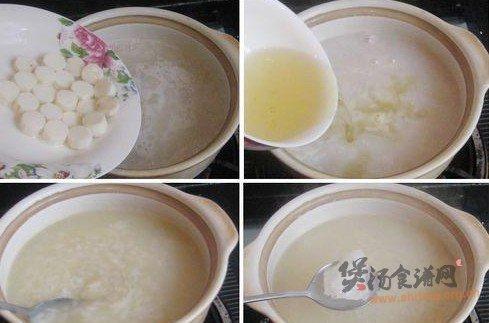 绿萼梅山药冰糖糯米粥的做法