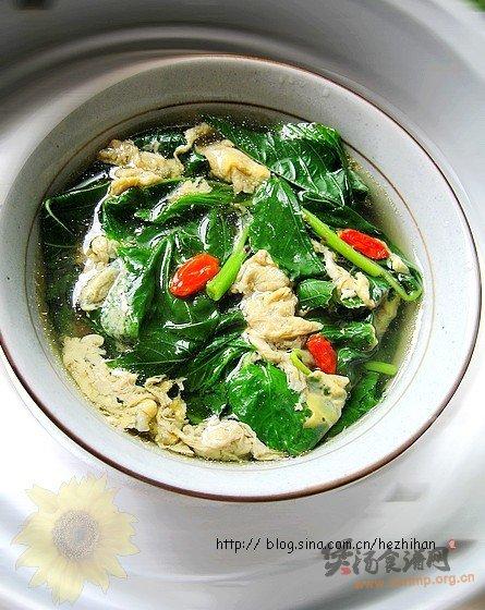 香蔴叶蛋花汤的做法