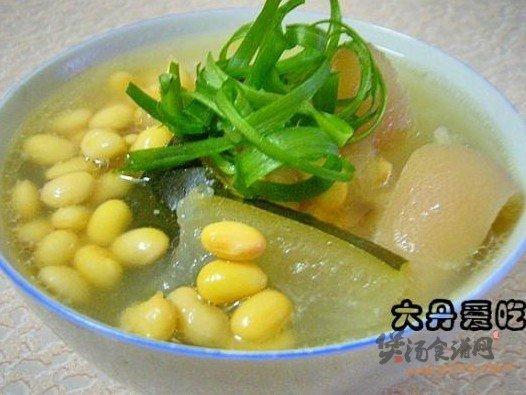 黄豆冬瓜煲猪脚的做法