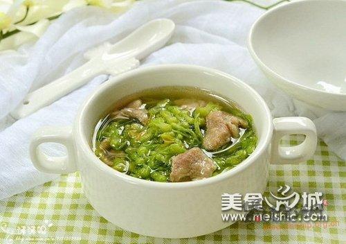 夜兰花肉片汤的做法