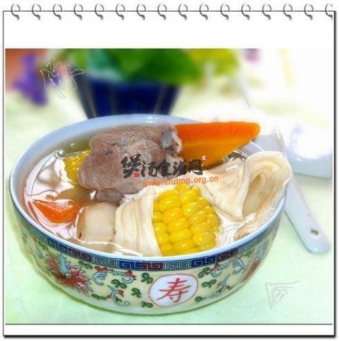腐竹玉米马蹄汤的做法