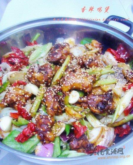 干锅香辣鸡煲的做法