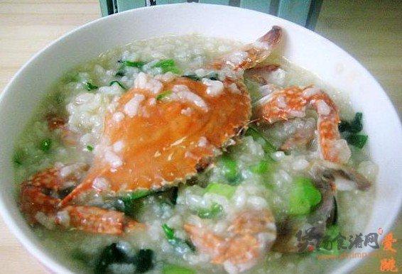 梭子蟹菜粥的做法