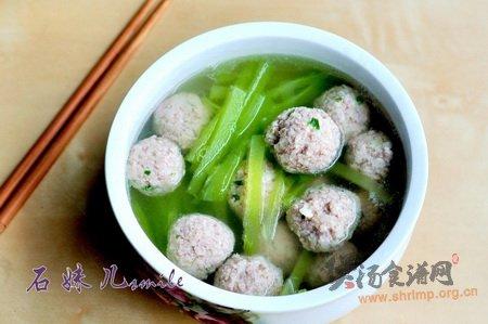 青笋肉丸汤的做法