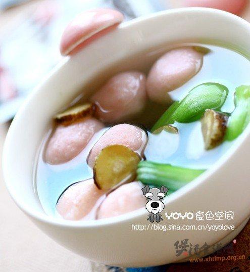 白芷油菜鱼丸汤的做法