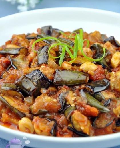 圆茄炖菜的做法