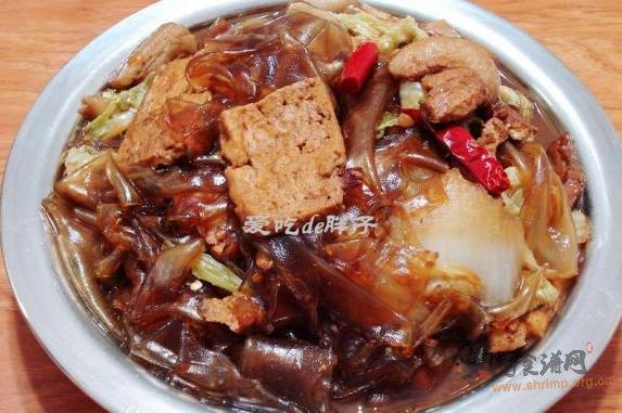猪肉白菜豆腐炖粉皮的做法