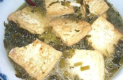 雪菜煲豆腐的做法