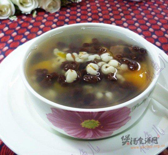 红小豆薏米仁红薯甜汤的做法