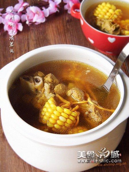 虫草花炖猪骨汤的做法