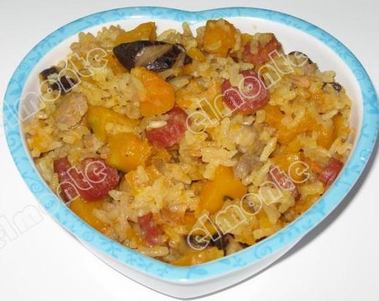 南瓜炖饭的做法