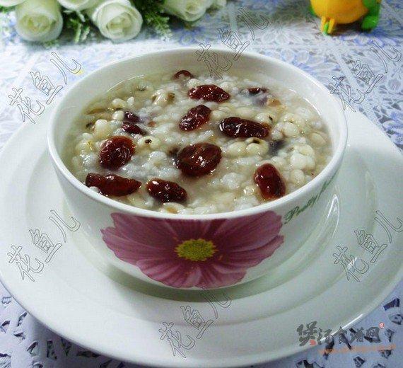薏米仁蔓越莓大米粥的做法