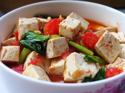 快手茄汁炖豆腐的做法