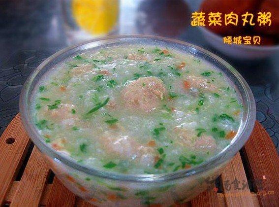 蔬菜肉丸粥的做法
