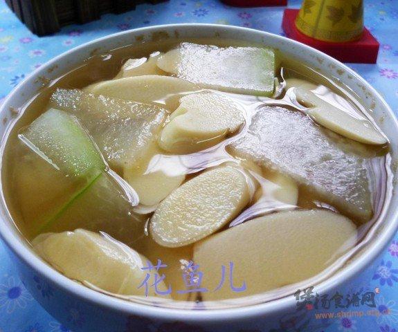 冬瓜鞭笋汤的做法
