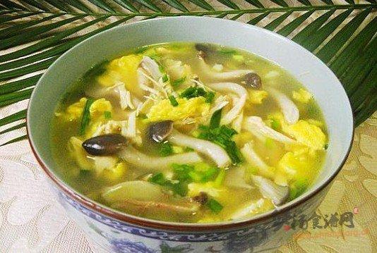 鸡丝秀珍菇蛋汤的做法