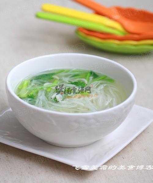 (1)虾皮萝卜丝汤的做法