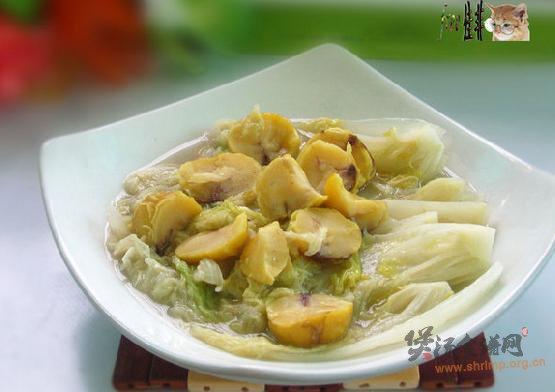 栗子炖白菜的做法