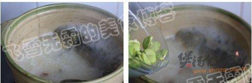 沙锅鲫鱼蚕豆汤的做法