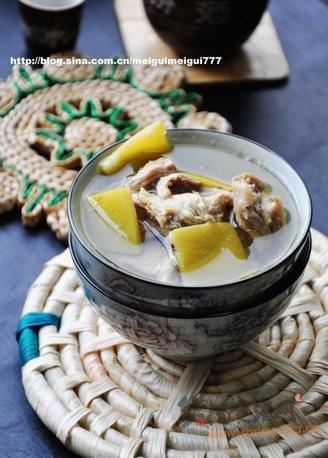 柚皮炖羊肉的做法
