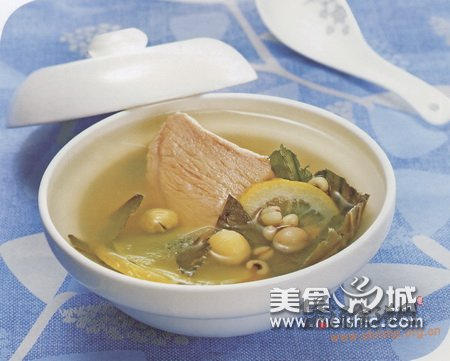 柠檬荷叶瘦肉汤的做法