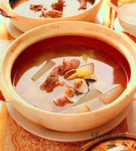 白贝冬瓜排骨汤的做法
