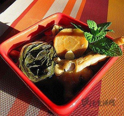 鸡脚煲白菜干汤的做法