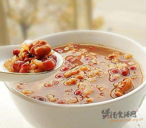核桃红豆粥的做法