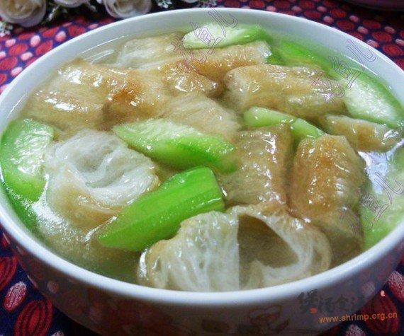 油条丝瓜汤的做法