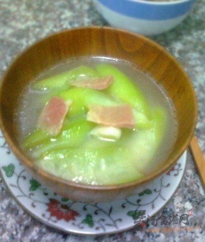 丝瓜火腿汤的做法