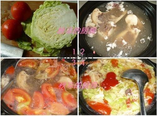 西红柿牛骨汤的做法