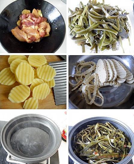 海带五花肉煲的做法