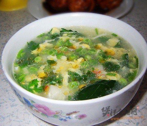 豌豆蛋花汤的做法