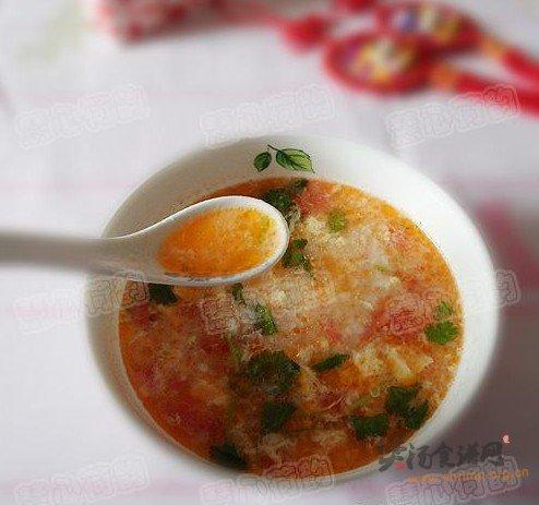西红柿鸡蛋拌汤的做法