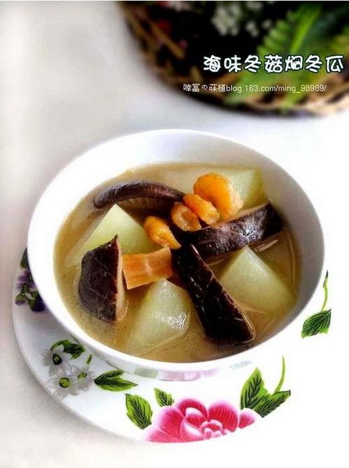 海味冬菇焖冬瓜的做法