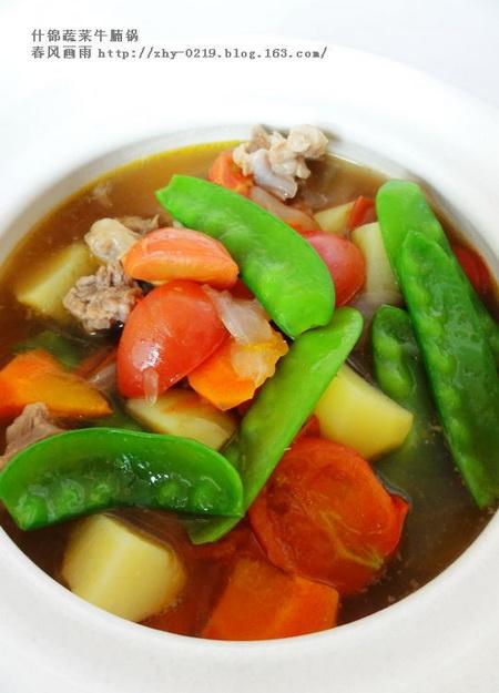 什锦蔬菜牛腩锅的做法