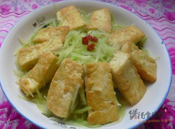 萝卜丝炖豆腐的做法