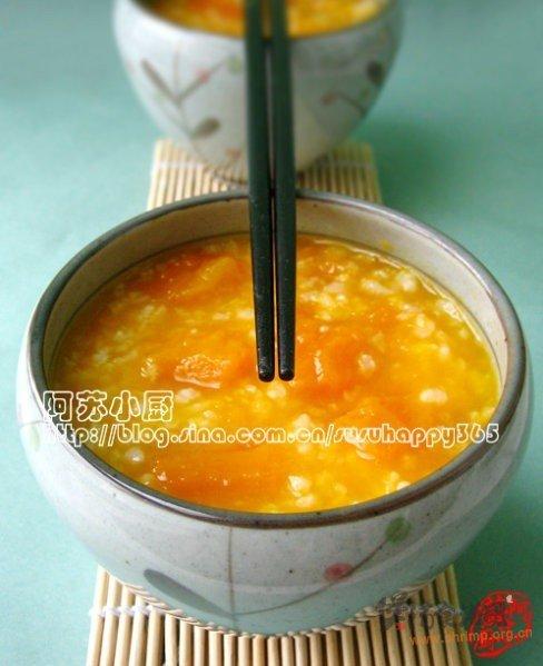 温暖南瓜粥的做法